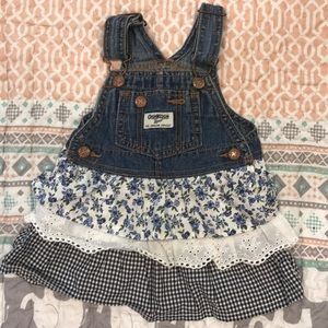 Oshkosh overalls skirt three tier 12 month jumper